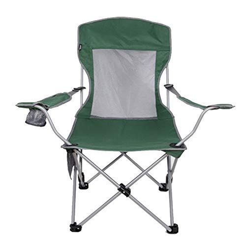 YLCJ Outdoor klapstoel Draagbare visstoel Strandstoel Verstelbare kinderstoel Informele lunchpauze Groen