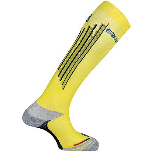 Salomon Calcetines de compresión de invierno unisex para esquí., Unisex adulto, amarillo, 42-44
