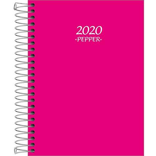 Agenda Espiral Pepper, Tilibra 2019, Rosa, Pacote de 4