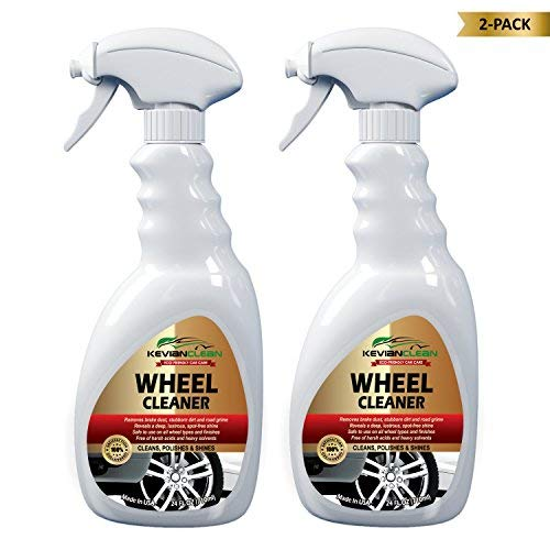 KevianClean Car Wheel Cleaner Spray - Best Heavy Duty Foam Power Cleans Chrome Aluminum Painted Alloy & Polished Stainless Steel Rims - Removes Brake Dust, Oil, Tire & Road Dirt - 24 OZ (2-Pack)