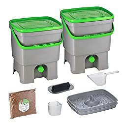 Bokashi Composter - perfect for apartment composting without worms.