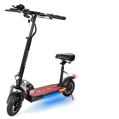 Kugoo E-Scooter M4 - Elektroroller, Elektro Scooter mit Sitz, LCD-Display,10 Ah Batterie,500-W-Motoren, Höchstgeschwindigkeit 50 km/h, Maximale Belastung 150kg, klappbar E Scooter für Erwachsene
