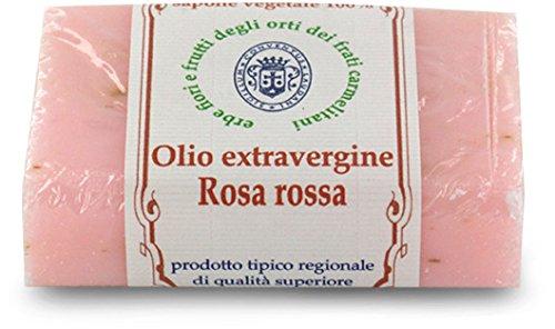 Jabón biosavon Alla Rosa Roja y aceite extravergine-100gr (Pack de 3 piezas)