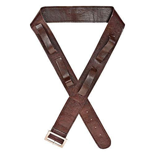Widmann 09834 riem met 4 holsters voor zwaarden en wapens, uniseks, volwassenen, bruin, eenheidsmaat