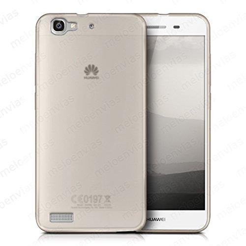 Meloenvias Funda Carcasa para Huawei P8 Lite Smart Gel TPU Liso Mate Color Transparente