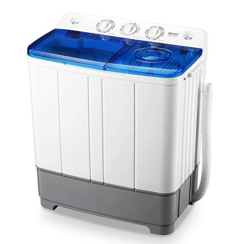 WANAI Portable Washing Machine, Compact Mini Twin Tub Washer (13lbs) + Spinner (8lbs), Top-loading Washing Machine with Timer, Ideal for Dorms, Apartments