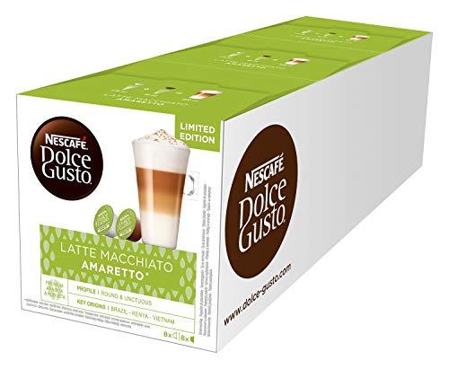 NESCAFÉ Dolce Gusto Latte Macchiato Amaretto, 48 Kapseln, 24 Getränke, 3er Pack (3 x 16 Kapseln)