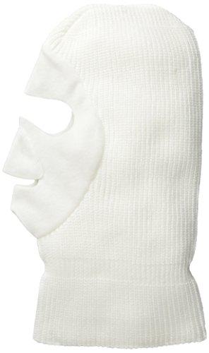 Quietwear Men's Knit Fleece Facemask, White, One Size