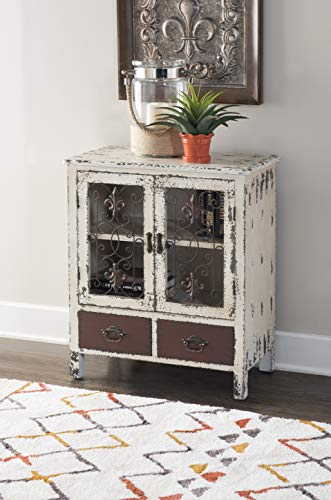 Powell Furniture 990-332 Parcel 2-Door 2-Drawer Console, White 30
