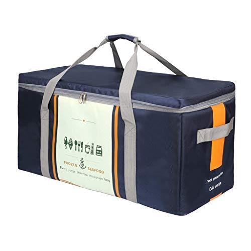 Borse Da Picnic, Borsa Frigo Termica Per Donne, Grande Cooler Box Bag , Custodia Porta Pranzo Morbida Per Adulti Per Picnic, Campeggio, Auto, 50L, 70L, 94L, Blu Scuro ( Capacity : 50L , Color : Blue )