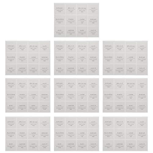 FRCOLOR 10 Blatt Wasserdichte Etiketten für Flaschen Bad Küche Selbstklebende Etikettenaufkleber für Shampoo Lotion Seife Flüssigkeitsflasche