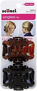 Scunci Hair Clip, Wingless 2 ea (Pack of 3)