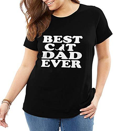 John J Littlejohn mejor gato papá nunca mujer camiseta algodón camiseta Tops casual ropa calle más tamaño camiseta