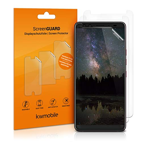 kwmobile 3X Schutzfolie kompatibel mit HTC U12+ / U12 Plus - Folie klar - Bildschirmschutzfolie Bildschirmschutz transparent Bildschirmfolie
