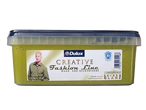 Dulux Creative Fashion Line 1l Wand und Deckenfarbe, seidenglanz mit FARBWAHL (Camouflage)