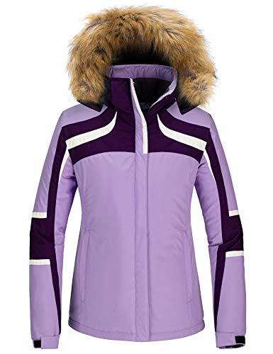 Skieer Chaqueta de Esquí Impermeable para Mujer Chaquetas de Snowboard Deportiva a Prueba de Viento Abrigo de Nieve Invierno Cálido Mujer