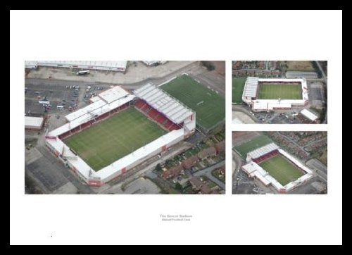 Walsall FC Framed Bescot Stadium Aerial View Photo Memorabilia