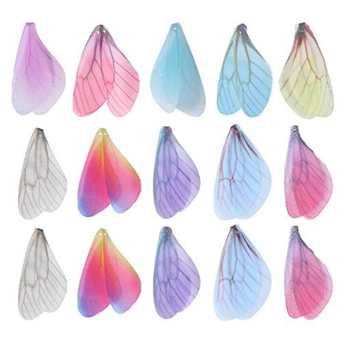 STOBOK - Pendientes con forma de libélula y alas de mariposa para decoración, hechas a mano, 100 unidades, color aleatorio