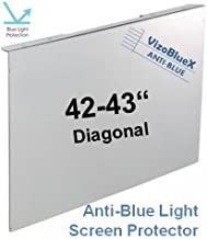 42-43 inch VizoBlueX Anti-Blue Light TV Screen Protector. Damage Protection Panel (38.2 x 22.4 inch) Filter Blocking UV & Blue Light from 380 to 495nm. Fits LCD, LED, 4K OLED & QLED HDTV Displays