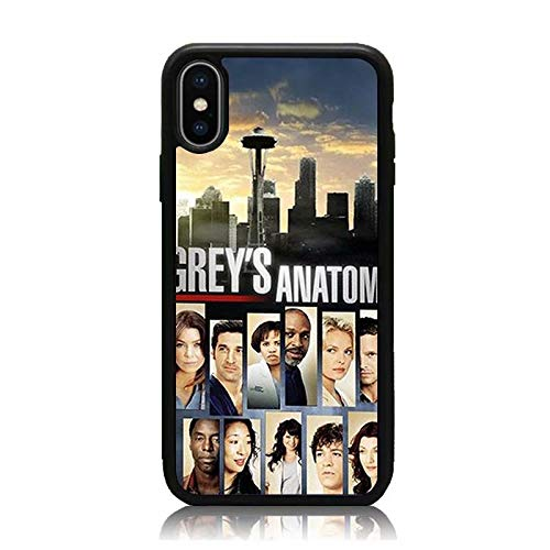 iPhone XR Case, [Grey's Anatomy Collage Series] Print Soft TPU & Hard Back Shock Absorption Protective Case Cover for iPhone XR 6.1 Inch