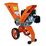 Forest Master Electric Start 6HP Garden petrol compact Chipper shredder, Lightweight well balance easy to transport powerful machine Cuts up to 50mm Dia