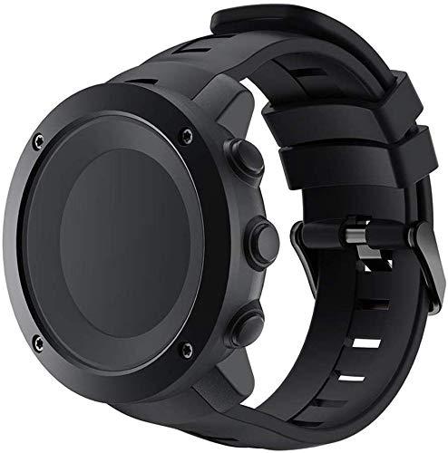 Cinturini Intelligente Orologio da Polso in Silicone Cinturino Cinturino per Suunto Ambit3 Verticale (Nero) Impermeabile per Gli Uomini Donne Fashion Dress Fashion Affari