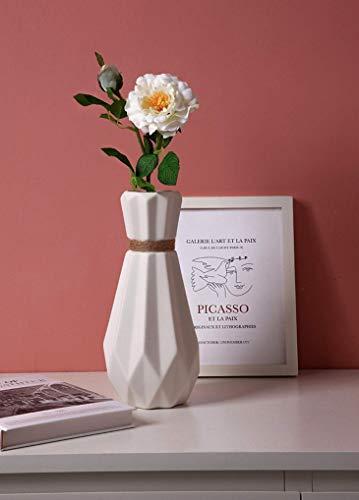 Saidan SD Jarrón Florero Diseño Moderno Geométrico Blanco Minimalista Decoración Decorativo