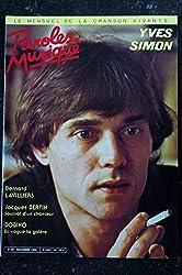 Paroles & Musique 1984 12 n° 45 YVES SIMON BERNARD LAVILLIERS JACQUES BERTIN BOBINO