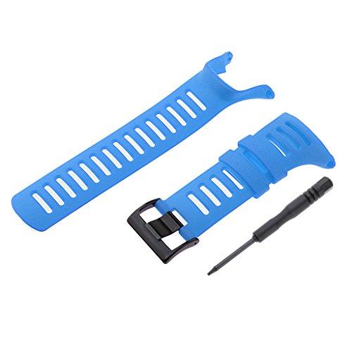 FITYLE Bandes De Montre-Bracelet en Caoutchouc pour Suunto Ambit3 Ambit 2 Ambit 1 - # 9, 24mm