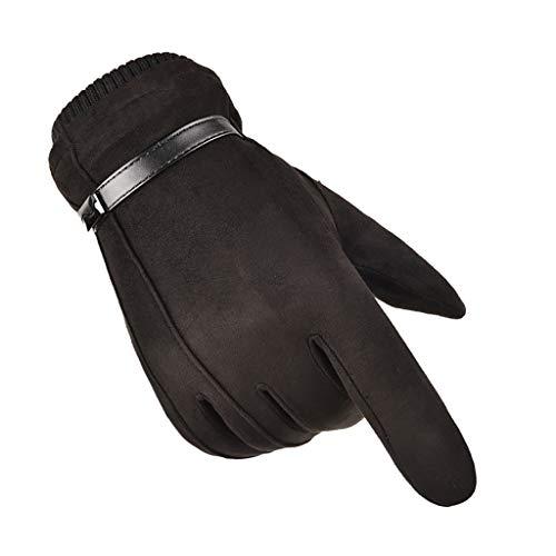 Qiuday Fahrradhandschuhe Winter Handschuhe für Herren und Damen Touchscreen Handschuhe Winddicht Warme Handschuhe zum Radfahren Laufen Fitness Camping Wandern Reiten Bergsteigen Sport im Freien