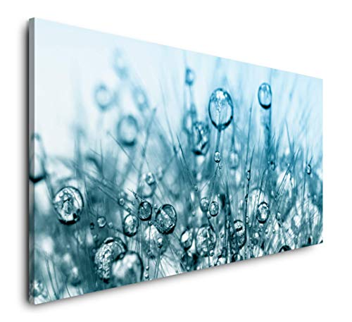 Paul Sinus Art Wasserblasen 120x 60cm Panorama Leinwand Bild XXL Format Wandbilder Wohnzimmer Wohnung Deko Kunstdrucke
