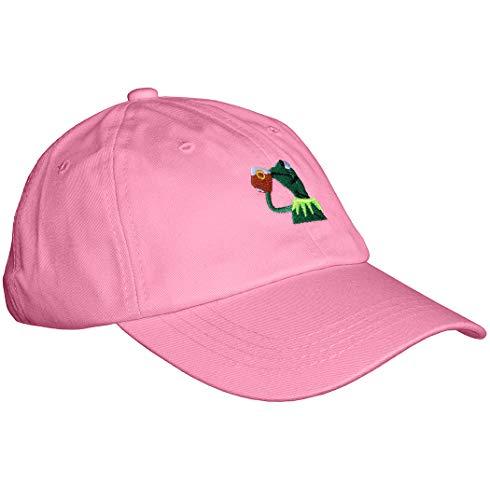 "Kermit The Frog ""Sipping Tea"" Adjustable Strapback Cap (pink)"