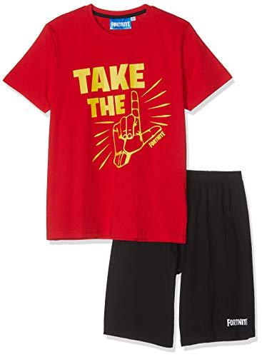 Fortnite Jungen 8843 Zweiteiliger Schlafanzug, Rot, 164