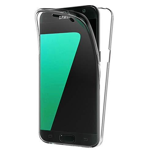 TBOC Funda para Samsung Galaxy S7 G930 - S7 Duos - Carcasa [Transparente] Completa [Silicona TPU] Doble Cara [360 Grados] Protección Integral Total Delantera Trasera Lateral Móvil Resistente Golpes