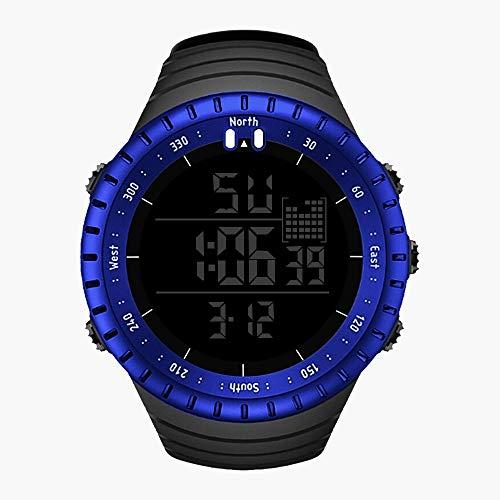 WANGJIA Waterdichte mannen buiten Sport Horloge Lichtgevende Wekker Horloges Luxe Blauw