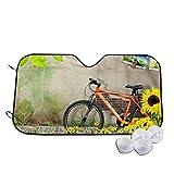 Opiadco Nature Flowers Tree Wall Grass Bike Car Windshield Sun Shade Car Sunshade-Keep Your Vehicle Cool. UV Sun and Heat Reflector