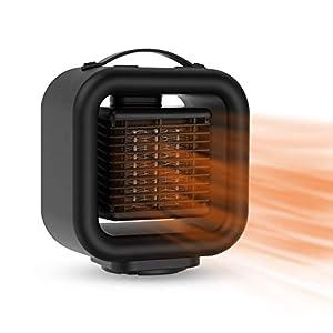 Calentador de ventilador de cerámica portátil, Calefactor baño bajo consumo Calentador de calentamiento eléctrico rápido sacudida Silencio Calentador de 1000W calefacción Emisores térmicos