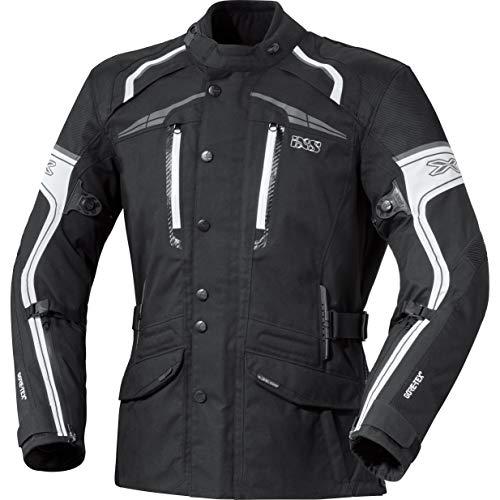 IXS Motorradjacke mit Protektoren Motorrad Jacke X-Jacke Montgomery schwarz/weiß M, Herren, Tourer, Ganzjährig, Polyamid