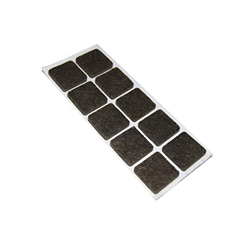 MOBILA Feltrini adesivi quadrati - 20 x 20 mm. - marrone - 10 pz.