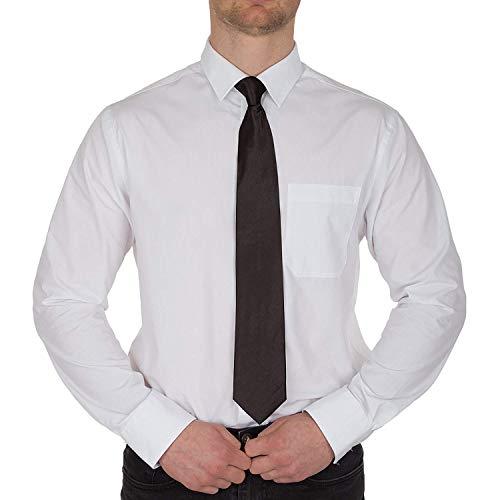 Redstar Fancy Dress - Ansteckkrawatte - Security Türsteher Flugbegleiter Anzug Beerdigung Kostüm Event - Schwarz