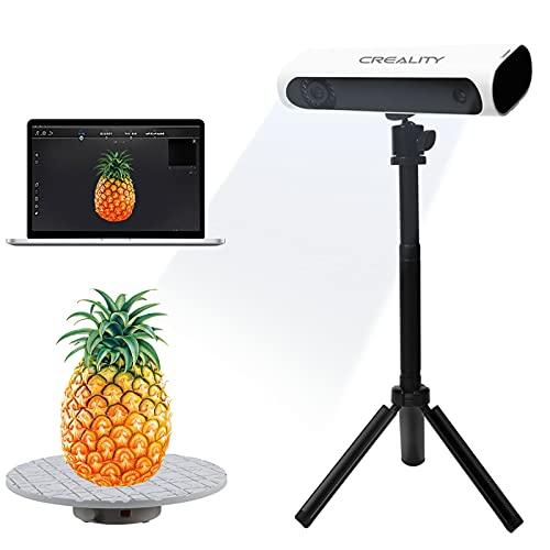 Scanner 3D, scan rapide Creality CR-Scan01 amélioré Réparation d'identification automatique avec trépied de table rotative portable et table rotative double mode, technologie une précision de 0,1 mm