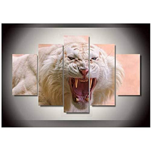 sjkkad Hd gedrukt wit tijger landschap groep druk op canvas schilderij ruimtedecoratie poster afdrukken afbeelding canvas -40x60x2 40x80x2 40x100cm geen lijst