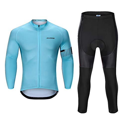 Men's Long Sleeve Cycling Jersey Sets for Fat Guys