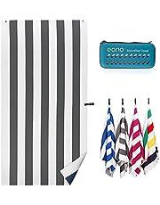 Amazon Brand - Eono Toallas de Microfibra para la Playa, compactas, Ligeras, de Secado rápido, tamaño Extragrande para Camping, Viajes y Senderismo