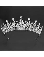 Diadema reale classico con zirconi cubici per matrimonio, diademi da sposa con cristalli, accessori per capelli per ragazza CH10364
