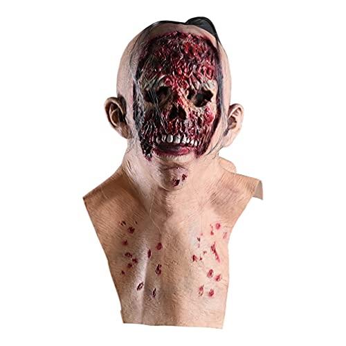 Generic Máscara de calavera de Halloween con cabeza completa, diseño gótico de...