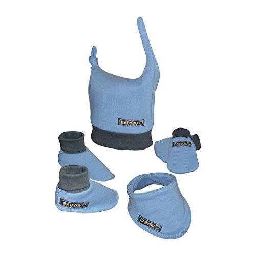 Mamadu Schnittmuster komplettes Baby- Winterset (0-3 Jahre): Hausschuhe, Mütze, Handschuhe und Halstuch für Anfänger zum Nähen
