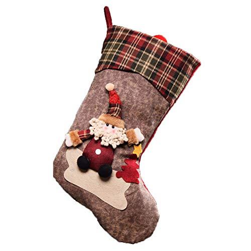 Demarkt–Calcetines de Navidad Papá Noel Botas Colgar Navidad decoración Papá Noel Estilo