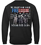 Erazor Bits Wool Blankets   Stand for The Flag Freedom Long Sleeve T Shirt ADD-MM2378LSM