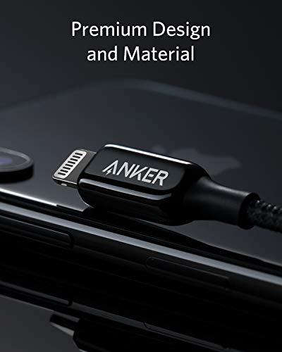AnkeriPhone充電ケーブルPowerLine+IIIライトニングケーブルAppleMFi認証取得iPhoneiPadiPodAirPods互換対応(0.9mブラック)